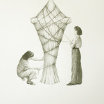 """In the name of the mother"" - graphite on paper, 16-1/8 x 20 inches (41x51 cm), 2013"