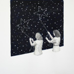 """The constellation"" - graphite, watercolour, acrylic jewels on paper, 50x70 cm, 2012 - Private collection"