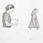 """The lesson"" - graphite and watercolour on paper, 40x50 cm, 2012"