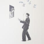 """""""Merchant of dreams"""" - graphite, watercolour, 17x12 inches, 2013"""
