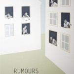 """Rumours"" - Graphite, latex paint, acrylic on panel, 48x72 inches, 2011"